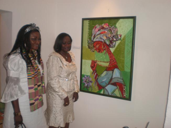Soulful painting: art-transmitter in touch with African Art